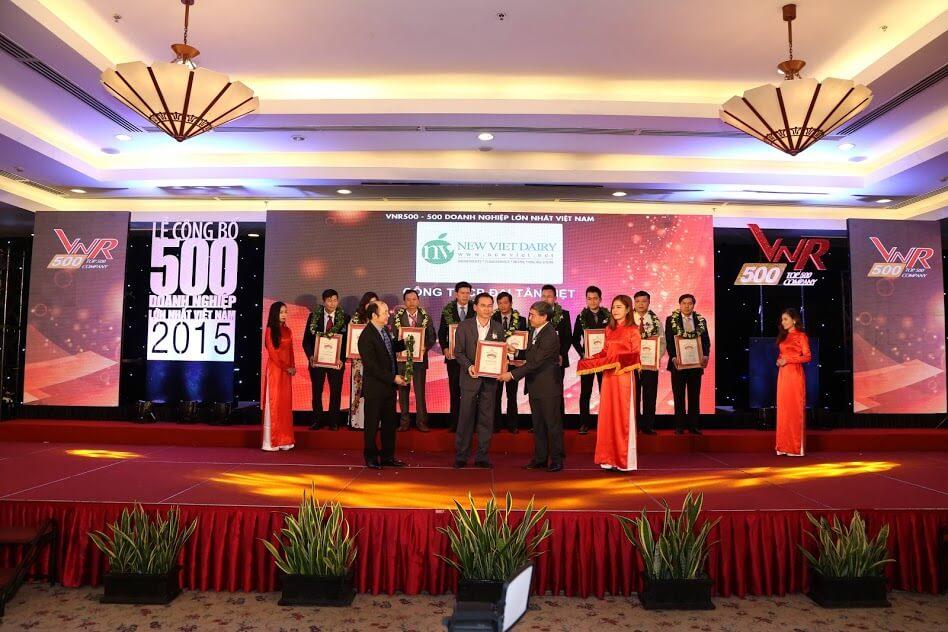 Công ty cổ phần Đại Tân Việt (New Viet Dairy) thuộc top 50 doanh nghiệp tư nhân lớn nhất Việt Nam năm 2015